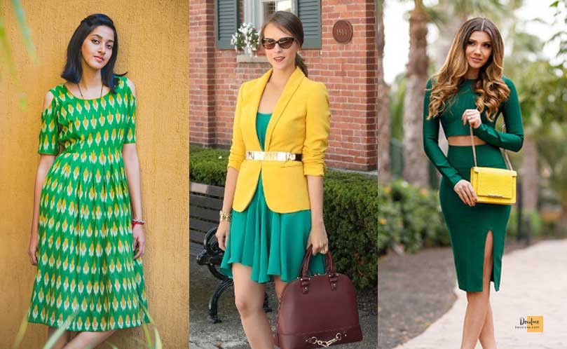 How to Combine Clothes to Look Good ? - Amazing Secrets Tips For You Green and Yellow dress