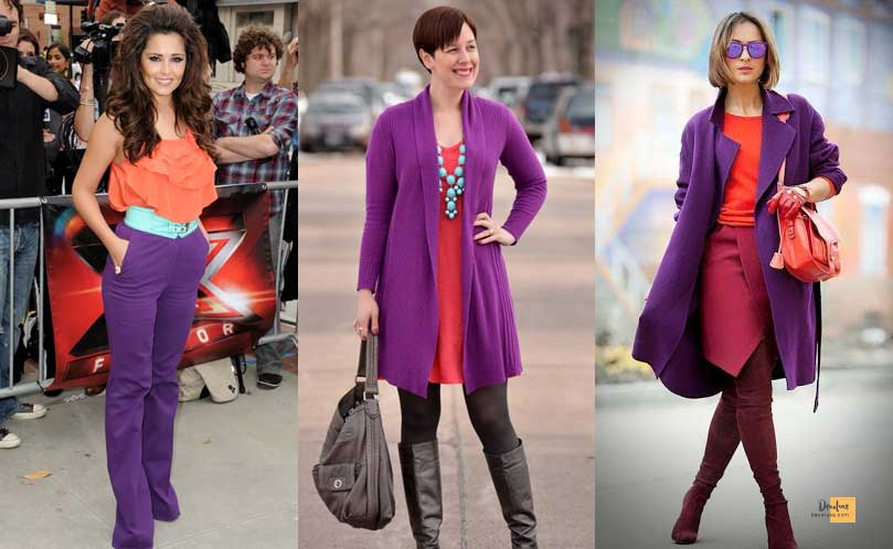 How to Combine Clothes to Look Good ? - Amazing Secrets Tips For You Purple and Coral dress