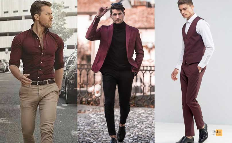 How to Combine Clothes to Look Good ? - Amazing Secrets Tips For You Colors to combine with Burgundy Clothes
