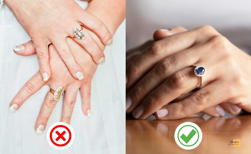 Remember that large rings don't suit everyone devoluxe.com Benefits of Wearing Fashion Accessories And 10 Rules You Should Know