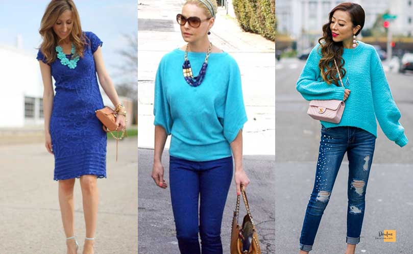 How to Combine Clothes to Look Good ? - Amazing Secrets Tips For You Cobalt Blue and Turquoise dress