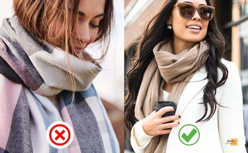 Don't hide a large collar underneath a bulky scarf devoluxe.com Benefits of Wearing Fashion Accessories And 10 Rules You Should Know