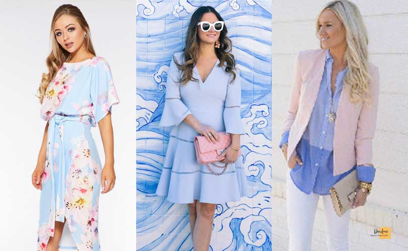 How to Combine Clothes to Look Good ? - Amazing Secrets Tips For You Pale Blue and Pink dress