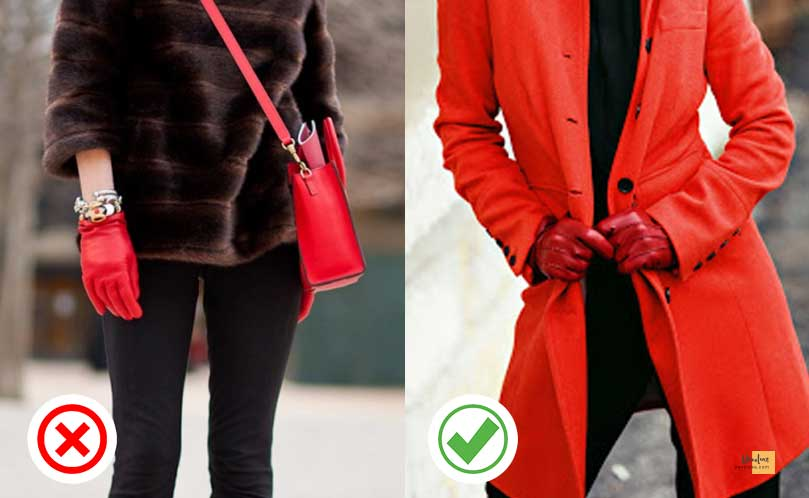 Gloves should be the same color as one other feature of your outfit devoluxe.com Benefits of Wearing Fashion Accessories And 10 Rules You Should Know