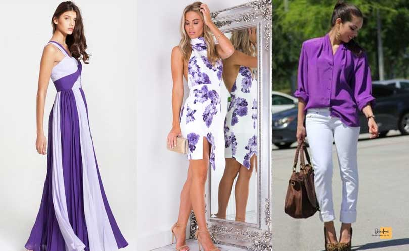 How to Combine Clothes to Look Good ? - Amazing Secrets Tips For You Purple and White dress